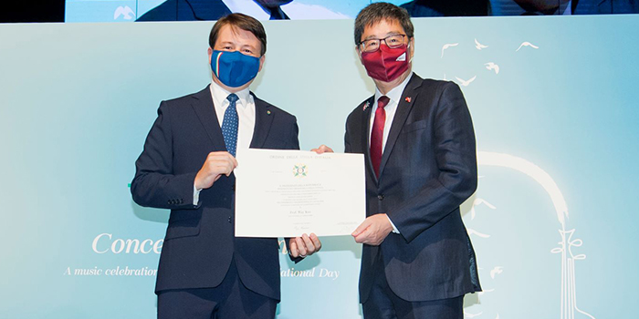 Prestigious Italian Honour of 'Knight' for CityU President Way Kuo